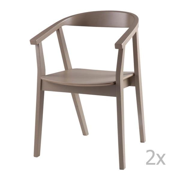 Sada 2 světle šedých jídelních židlí sømcasa Donna