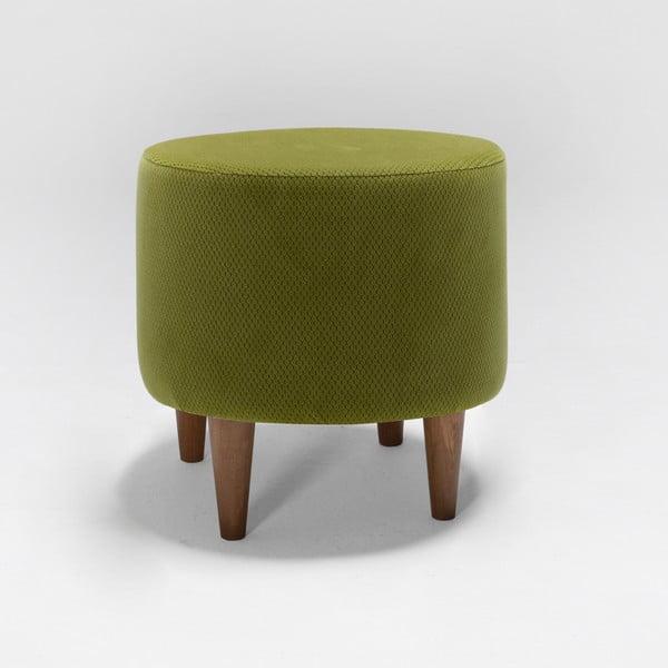 Olivově zelená podnožka Balcab Home Nora