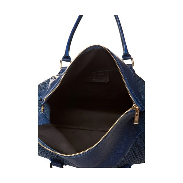 Kožená kabelka Mabel, modrá
