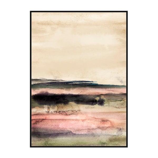Obraz v rámu z borovicového dřeva Moycor Pink Tones, 100 x 140 cm