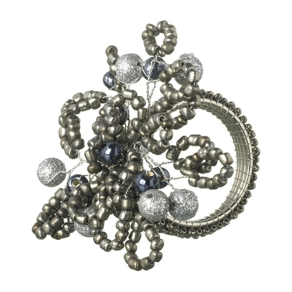Inel șervet de masă Parlane Beaded, 9x7cm