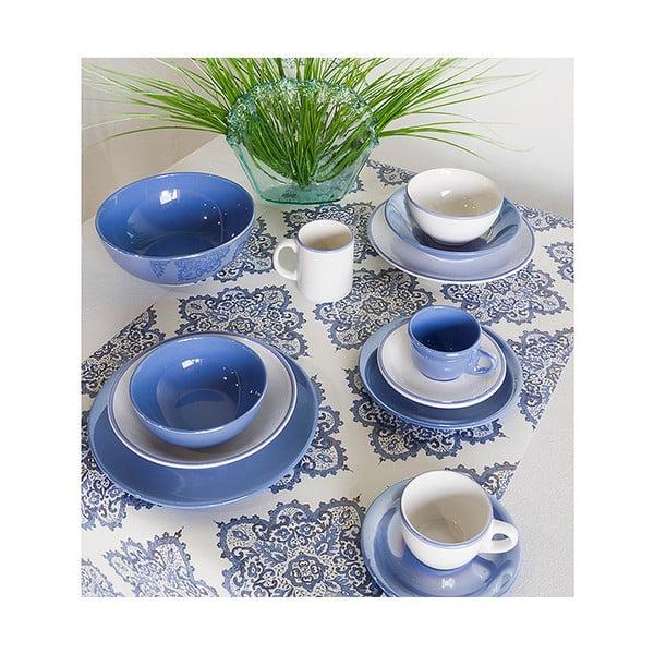 Set 6 căni din porțelan Santiago Pons Simply, margine albastră