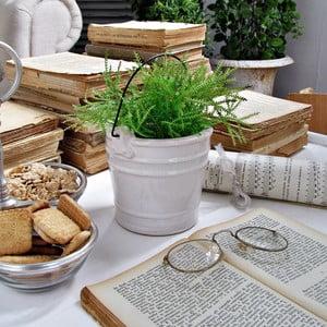 Keramický květináč/váza Milano White