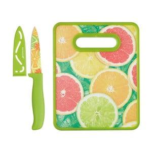 Sada nože a krájecího prkénka  Kitchen Craft Healthy Eating