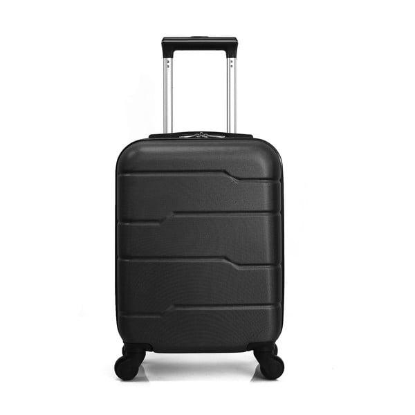 Černý cestovní kufr na kolečkách Hero Santiago,30l