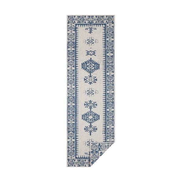 Modro-krémový venkovní koberec Bougari Duque, 80 x 250 cm