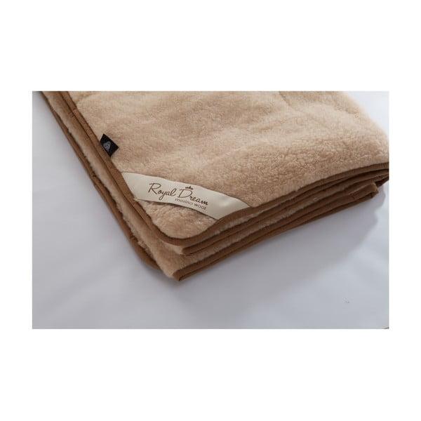 Vlněná deka Royal Dream Merino, 200x200 cm