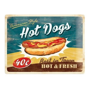 Plechová cedule Hot Dog, 30x40 cm
