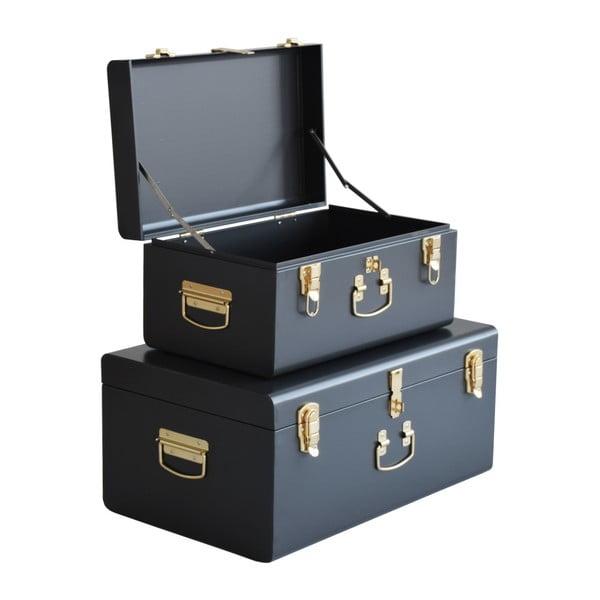 Sada 2 černých kovových kufříků RGE Stella Matteus