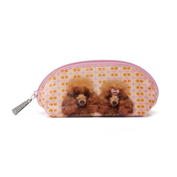 Oválná kosmetická taška Poodle Love