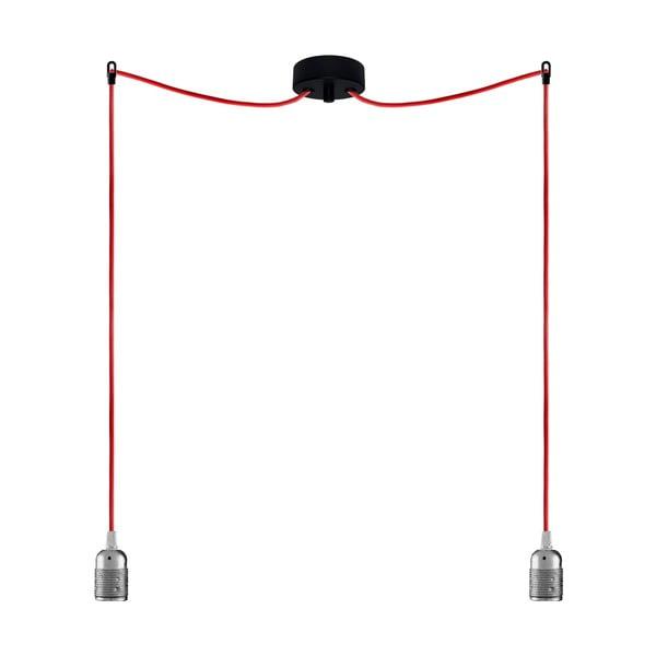 Dva závěsné kabely Uno, stříbrná/červená