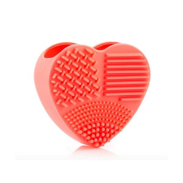 Ruční silikonový čističky na kosmetické štětce InnovaGoods Heart