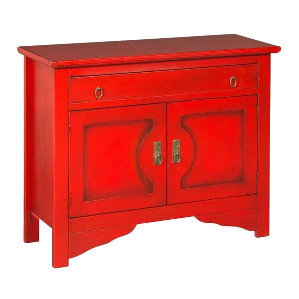 Czerwona komoda Evergreen House Credenza