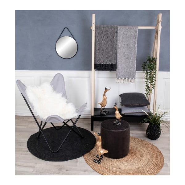 Světle hnědý kulatý koberec House Nordic Bombay, ø90cm