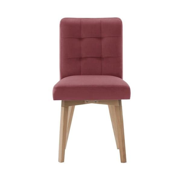 Ružová jedálenská stolička Rodier Haring