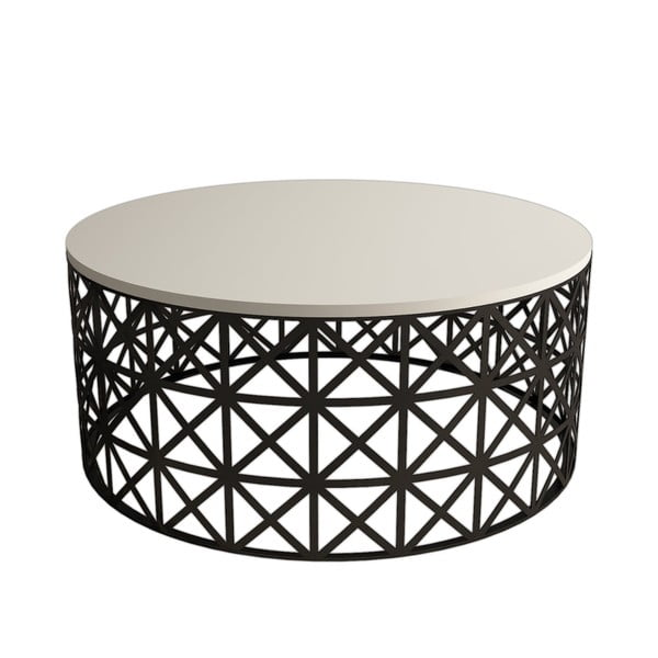 Selin Cream tárolóasztal, ⌀ 90 cm