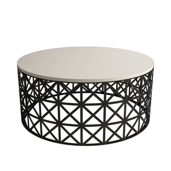 Odkladací stolík Selin Cream, ⌀ 90 cm