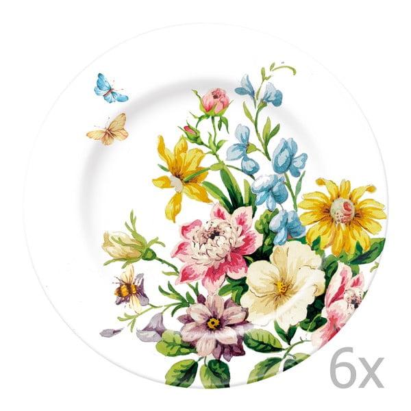 Sada 6 tanierov Katie Alice English Garden, 19 cm