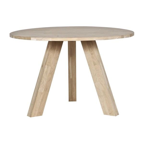Rhonda tölgyfa étkezőasztal, ⌀ 129 cm - WOOOD