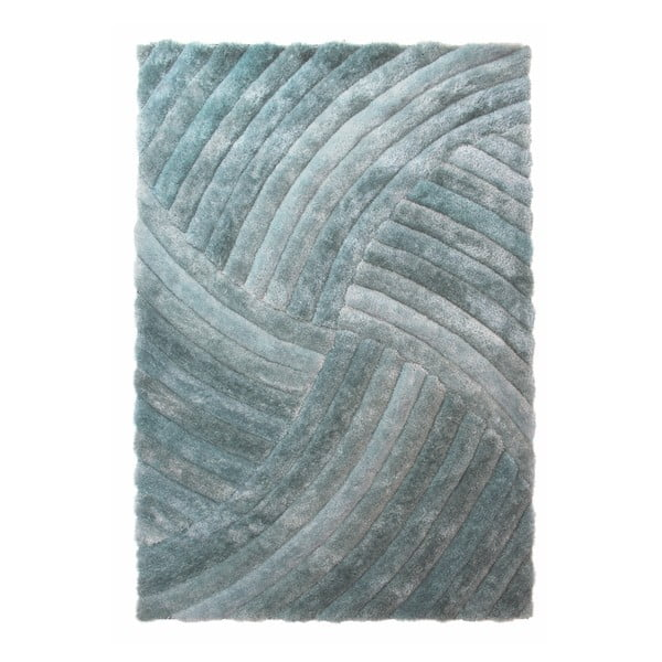 Modrozelený koberec Flair Rugs Furrow Duck Egg, 80 x 150 cm