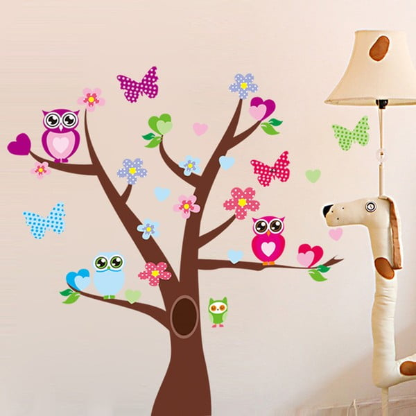 Naklejka   Tree and Butterflies on Tree