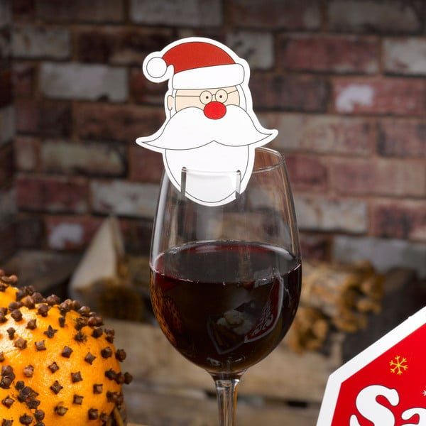 Sada 10 ozdob na skleničky Neviti Christmas Craft Santa