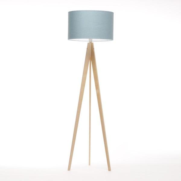 Modrošedá stojací lampa 4room Artist, bříza, 150 cm