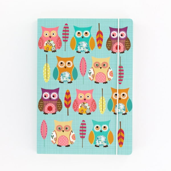 Caiet A5 GO Stationery Owls