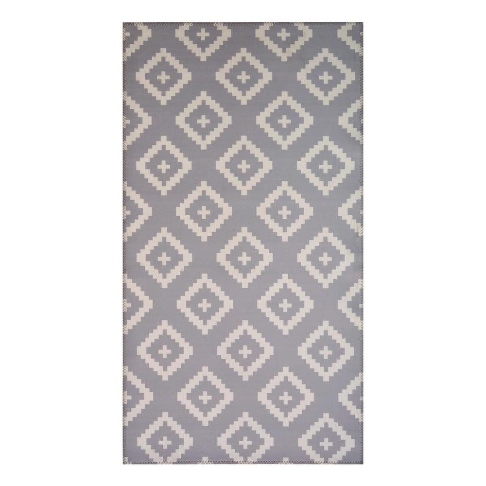 Šedý koberec Vitaus Geo Winston,50x80cm