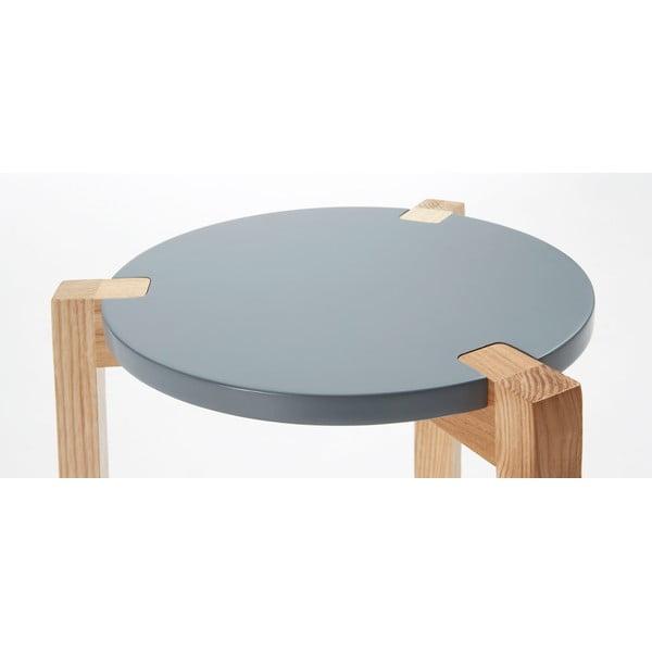Šedý odkládací stolek La Forma Elroy