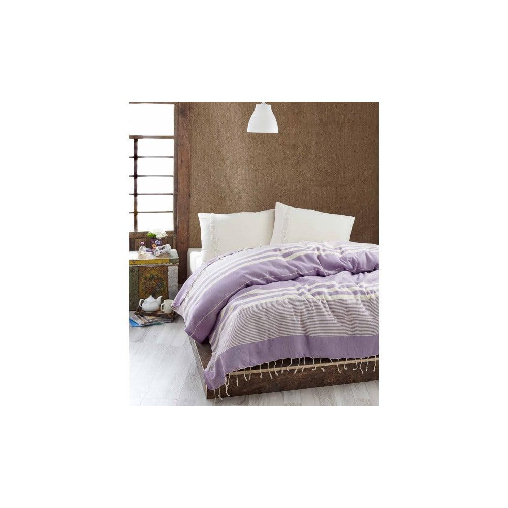 Lehký přehoz přes postel Hereke Lilac, 200 x 235 cm