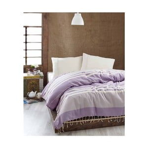 Cuvertură subțire de pat Hereke Lilac, 200 x 235 cm