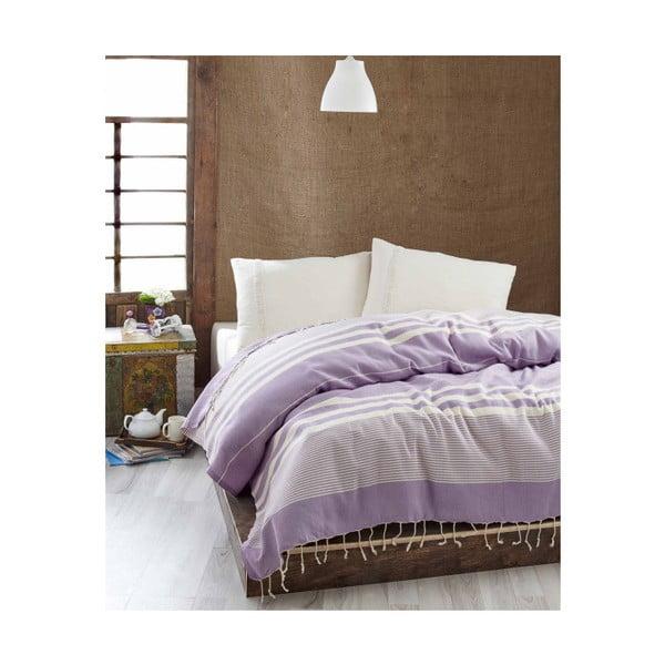 Lehký přehoz přes postel Hereke Lilac, 200x235cm