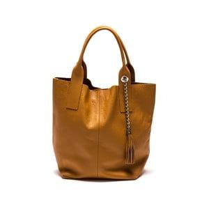 Kožená kabelka Anna Luchini 187 Cognac