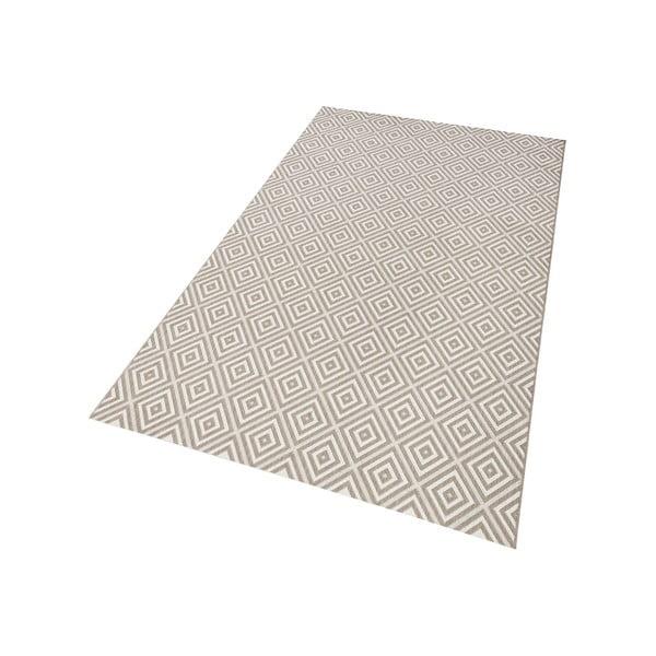 Šedý koberec vhodný i na ven Hanse Home Karo, 140x200cm