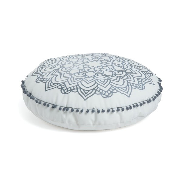 Aimara fehér mintás puff, ⌀ 60 cm - La Forma
