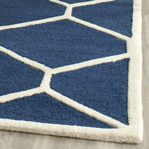 Vlněný koberec Safavieh Lulu 121x182 cm, modrý