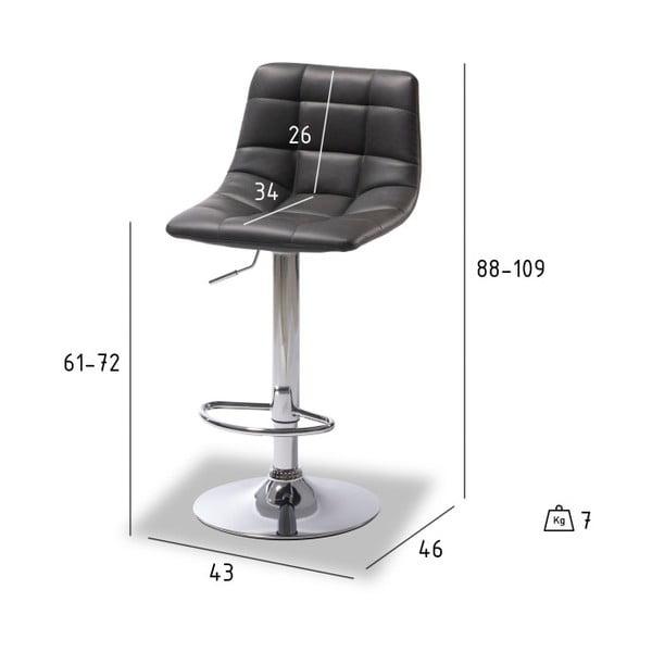 Sada 2 barových černých židlí Furnhouse Mario
