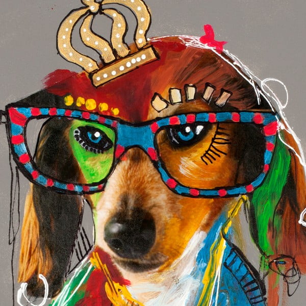 Hector Dog 2, 70x70 cm
