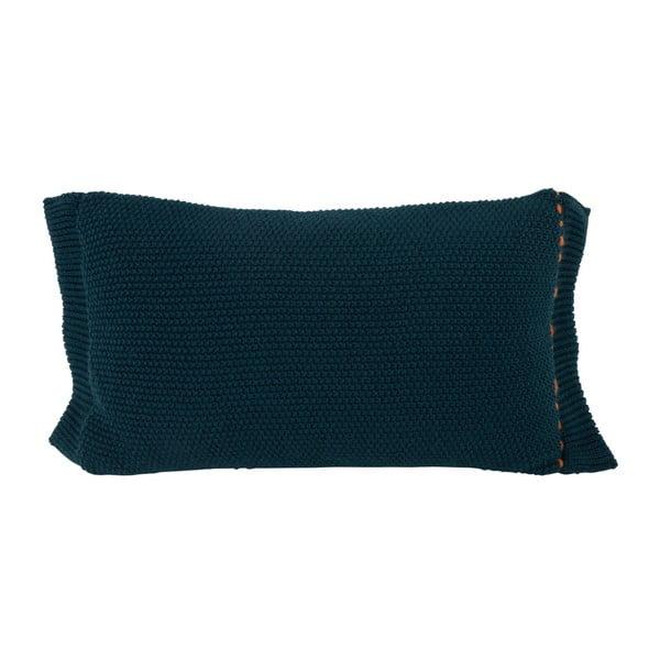 Tmavě modrý polštář s výplní Zuiver Aster, 60 x 30 cm