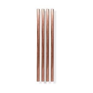 Sada 4 měděných kovových brček W&P Design, délka12,7cm