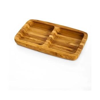Bol servire din lemn de bambus Double Bambum imagine