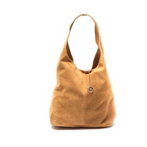 Koňakově hnědá kožená kabelka Roberta M 885