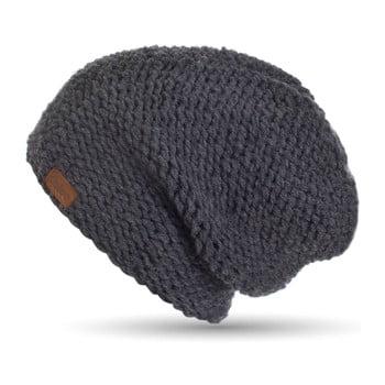 Căciulă tricotată manual DOKE Dark, gri închis de la DOKE