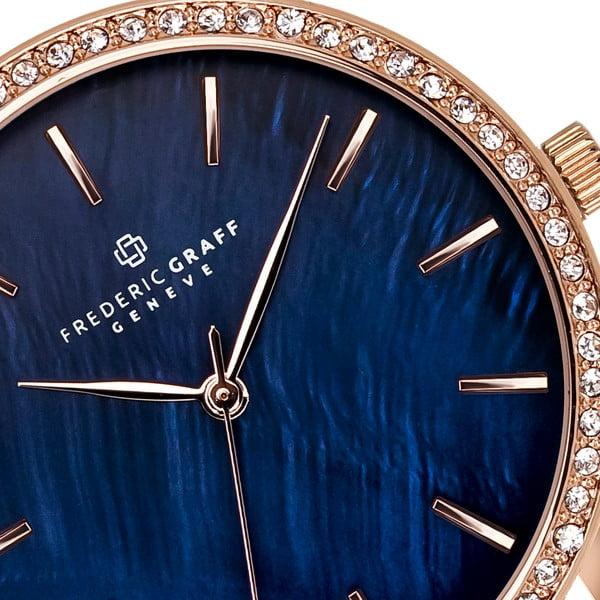 Dámské hodinky s vínovým páskem z pravé kůže Frederic Graff Lismo