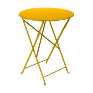Masă grădină Fermob Bistro, ⌀ 60 cm, galben
