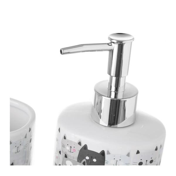Set suport periuțe și dozator de săpun Unimasa Gatos, ceramică