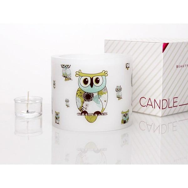 Kruhový svícen na čajovou svíčku Owl