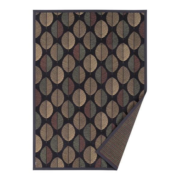 Černý vzorovaný oboustranný koberec Narma Pärna, 160x100 cm
