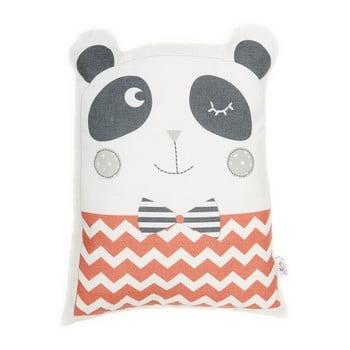 Pernă din amestec de bumbac pentru copii Apolena Pillow Toy Panda, 25 x 36 cm, roșu imagine